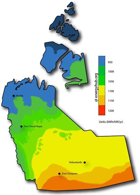 Solar Energy Map Northwest Territories