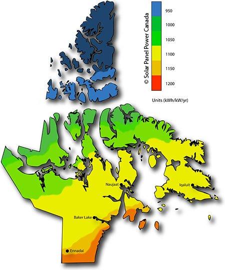 Solar Energy Map Nunavut