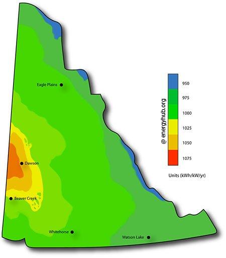 Solar Energy Map Yukon Territory