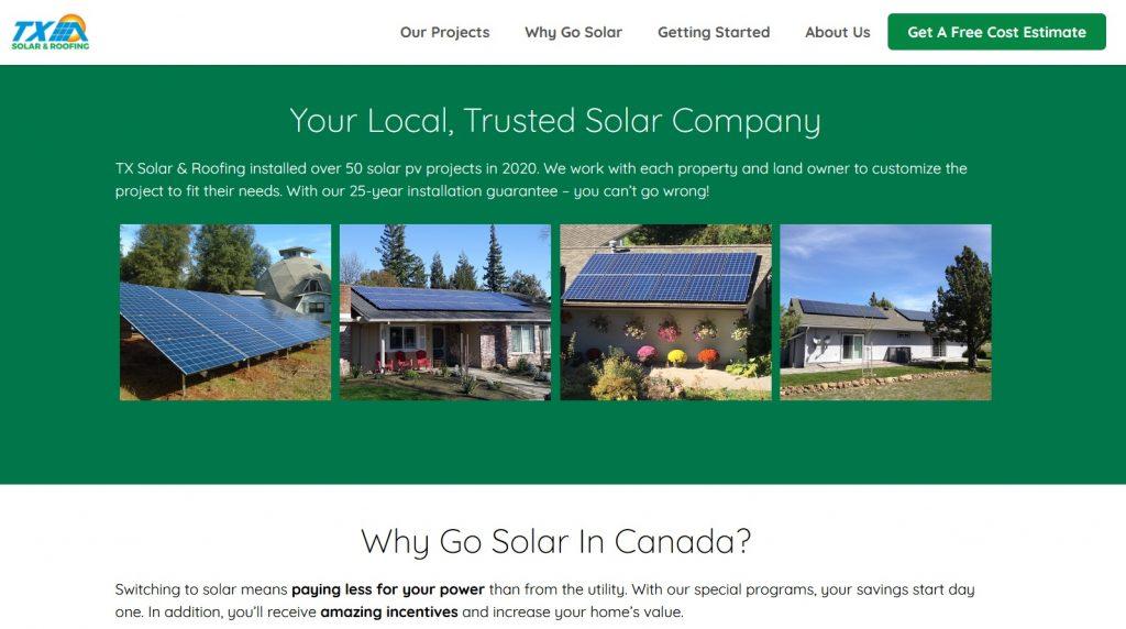 Clean Energy Website Design Canada